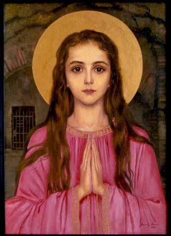 Santa_philomena_official_painting_pink